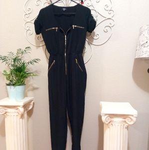 XOXO Black Zip Up Jumpsuit